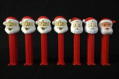 Lot Of 7 Santa Claus Pez Dispensers With Feet Slovenia China Hungary