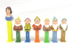Snow White And 6 Dwarfs Pez Dispensers China Missing Grumpy Multi Color Empty
