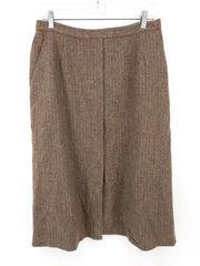 Vintage Evan Picone Tweed Skirt Mauve Herringbone 100% Wool Sz 16