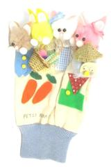 Homemade Cotton Story Telling Glove Peter Rabbit Size Medium Glove