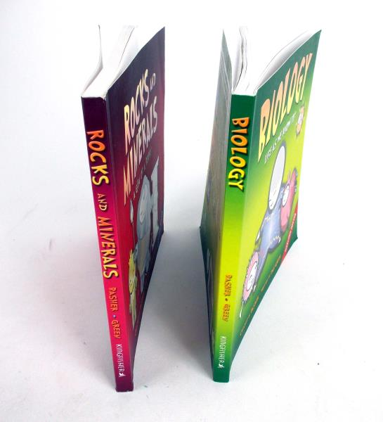 Lot of 2 Dan Green Science Books w/ Posters Biology & Rocks and Minerals