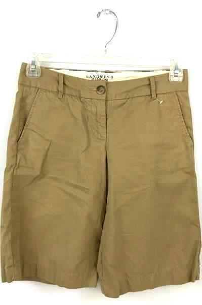 LANDS' END Canvas 1963 Women's Light Brown Shorts With Zip Fastener Size 0