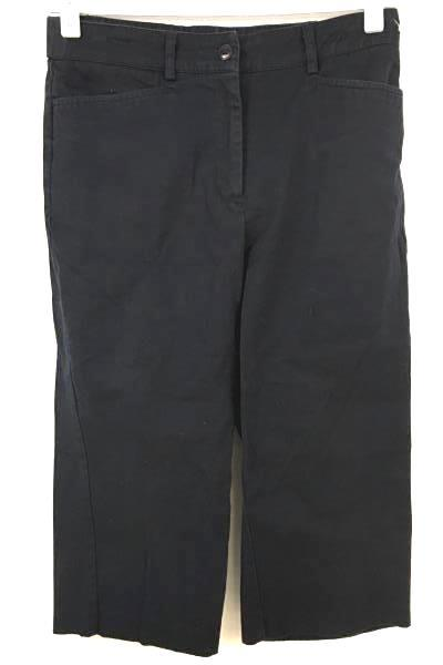 SAG HARBOR Stretch Petite Women's Dark Blue Crop Trousers Size 4 P
