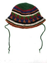 Vtg 1990s Guatemalan Crochet Baby/ Toddler Hat Bucket Cloche Brimmed Handmade