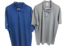 Lot of 2 Men's 2XL Short Sleeve Golf Polo Shirts Arizona Jean Nike Golf Dri Fit