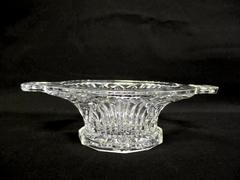 Vintage Ribbed And Diamond Cut Relish Candy Dish