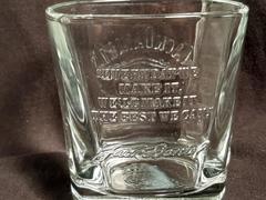 Jack Daniel's Old No. 7  Whiskey Square Embossed Rocks Glass Bareware