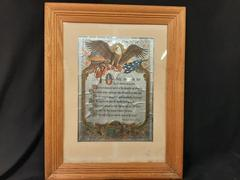 Framed The Star Spangling Banner Color Etched Foil Print by Francis Scott Key