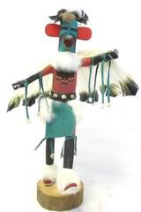 Eagle Dancer Wooden Kachina Doll 20in Tall Wooden Figurine