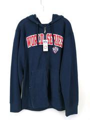 Antigua 2012 MLB World Series Hoodie Jacket Full Zip Up Navy Blue Men's XL