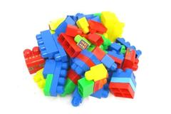 Lot of 94 Large Plastic Toddler Size Building Blocks Multi Color