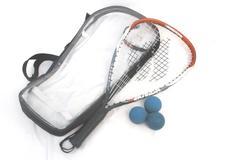 Ektelon Racquetball Power Level 900 Racquet Racket With Cover 3 Blue Balls