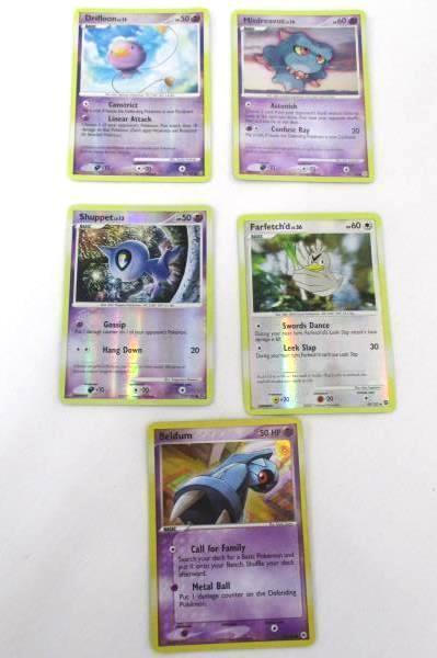 5 Holographic Pokemon Trainer Card Shuppet Beldum Drifloon Misdreavus Farfetch'd