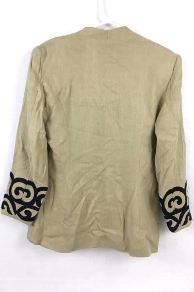 Women's Vintage Saddle Ridge Dark Cream Jacket Coat Size Medium/Large