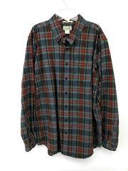 L.L. BEAN Traditional Fit Shirt Cotton Flannel Button Down Plaid Sz Large Tall