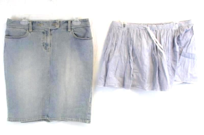 Lot of 2 Women's Skirts Size 8 Ann Taylor Loft Denim American Eagle Outfitters