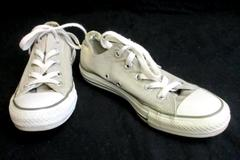 Converse All Star Gray Low Top Textile Sneaker Shoes Women's Size 6