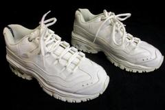 Skechers Energy Athletic Shoes White Lace Up Women's Size 8.5
