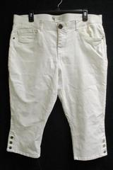 Dana Buchman Women's Capri Pants Stretch Elastic Waist Snap Hem Size 16