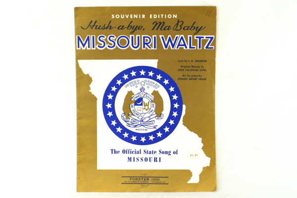 Vintage Piano Hush-A-Bye Ma Baby Missouri Waltz Souvenir Edition by J.R. Shannon