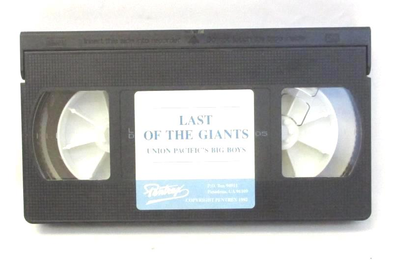 Last of the Giants Union Pacific's Big Boys 1992 VHS Railroad Train Engines
