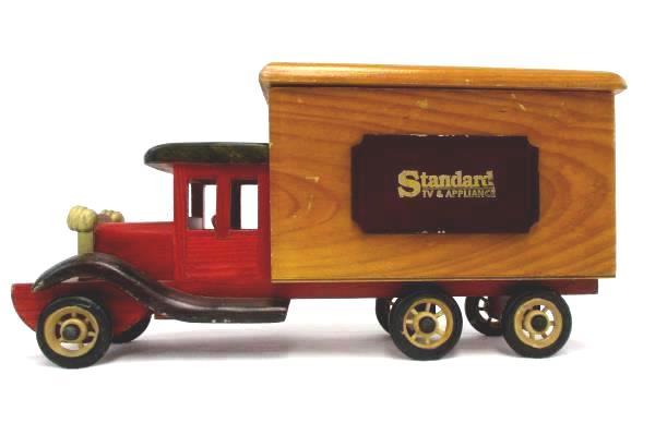 "Wooden Advertising Toy Truck ""Standard TV & Appliance"" Display Storage"