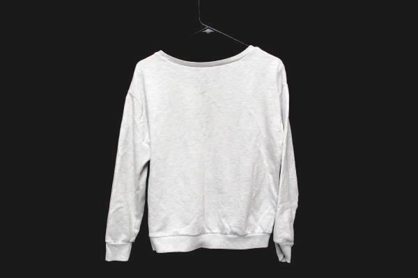 H& M Meow or Never Pullover Cat Lover Crop Sweatshirt Gray Grey Women Medium