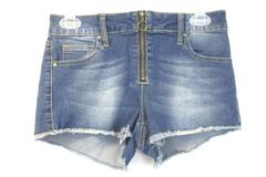 Sky and Sparrow Juniors Size 1 Denim Cut Off Shorts Pockets Zip Up Front
