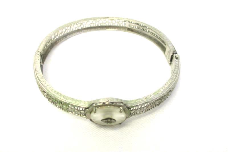 Vintage Sub-Deb Silver Tone Bracelet And Necklace Silver Tone