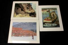 Lot of 3 Misc Art Photography Prints Clear Light Gallery Lori Wallace Lloyd