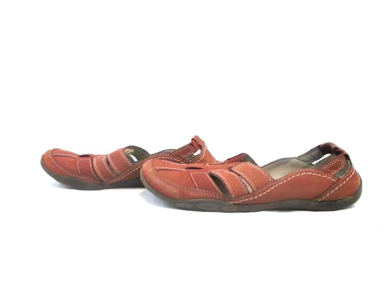 Clarks Leather Slip On Shoes Cushioned Strappy Comfort Walking Women's Size 8M