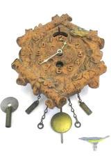Keebler Lux 1934 Six Logs 206 Animated Bluebird Pendulette Wall Clock