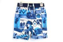 Crazy 8 Boys Swim Shorts Trunks Board Shorts Hawaiian Palm Trees Size S 5/6