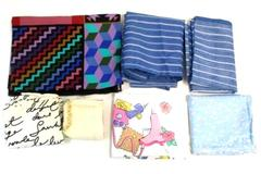 Lot of 7 Pieces of Precut Fabric Prints For Crafting DIY Quilting