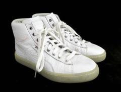 PUMA Basket Mid Alligator Embossed Sneaker White US Women's 6