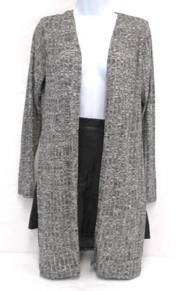 Women's Outfit H&M High Waist Faux Leather Mini Skirt Ambiance Cardigan S