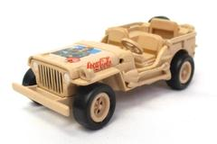 Playing Mantis Coca Cola 2000 Military Willys Army Jeep 065 Tan Diecast Vehicle
