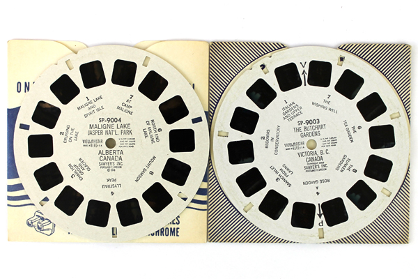Lot of 2: View-Master Butchart Gardens Maligne Lake Canada Reels SP 9003-9004