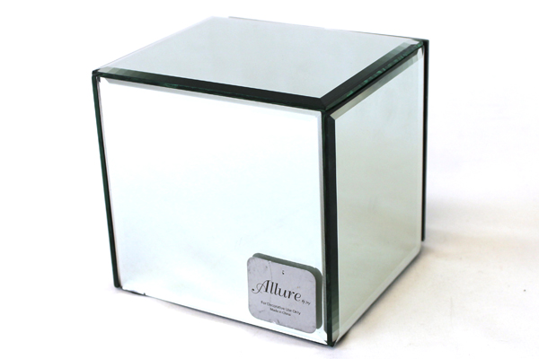 Allure By Jay Cube Shaped Mirrored Jewelry Box