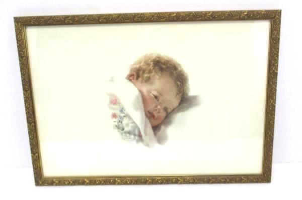 "21""x 14"" BESSIE PEASE GUTMANN Print # 692 - Sleepy Baby - ON DREAMLAND'S BORDER"