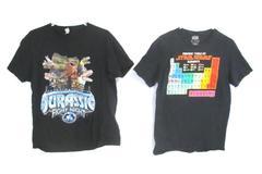 Lot of 2 Black Cotton T-Shirts Men's Size M Star Wars Jurassic Fight Night