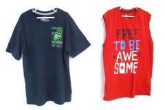 Lot of 2 Boy's Shirts Size XXL 18 Way To Celebrate Jurassic World Tank Top