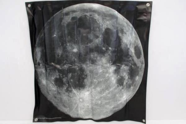 2 Vinyl Hanging Posters Science Learning Moon Phases Large Moon Picture