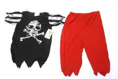Children's Unisex Scaring Pirate Costume Outfit Size Small Shirt Pants Halloween