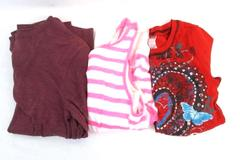 Lot of 3 Girl's Tops Size 10/12 Wonder Nation Beautees Justice