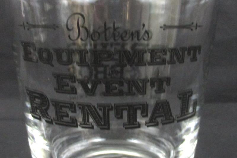 """Lot Of 3 Oregon Brews And BBQ's Glasses 4.75"""""""