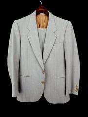 Vintage Oscar De La Renta 2 pc Suit Gray Wool 2-Button Mens Size 40 R