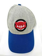 Melonwear MLB Chicago Cubs Logo Hat Adjustable Gray Wool Blend Collegiate SGA