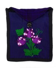 Purple Rose Floral Guatemalan Embroidered Boho Crossbody Bag CONCERNED CRAFTS