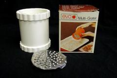 Vintage Eva Multi Grater w/ 2 Stainless Steel Blades Kitchen Tools Original Box